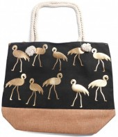 Y-D4.1 BAG530-002 Beach Bag Flamingo Green