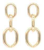 E-A8.2  E2019-012G Metal Chain Earrings 4cm Gold