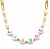 H-D11.1 N2126-021G S. Steel Necklace JADORE Gold