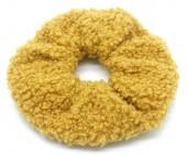 S-A6.1  H305-027A Scrunchie Teddy Ocher Yellow