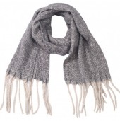 Z-D2.3 SCARF405-056C Soft Winter Scarf Grey