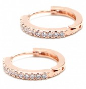 A-A8.1  E1929-003R Earrings with Cubic Zirconia Rose Gold
