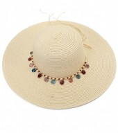 R-O3.2 HAT210-002 Hat with Wooden Beads Brown