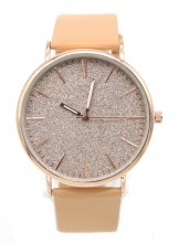 B-C7.2 WA422-001 Quartz Watch with Glitters 43mm Light Brown