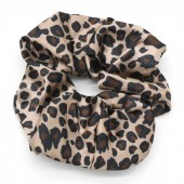 S-G7.4 H307-001 Scrunchie with Animal Print Brown