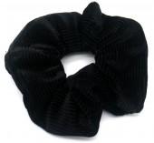 S-E6.1 H305-022 Srunchie Rib Fabric Black