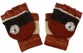 J-D3.1 Kids Gloves with a Bow Red