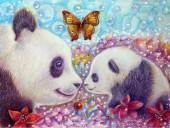R-G7.2 GX537 Diamond Painting Set Pandas 40x30cm