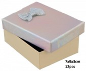 Y-D3.2 PK424-076 Giftbox for Jewelry 7x9x3cm Silver 12pcs