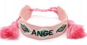 E-D5.2 B2030-004 Woven Bracelet Ange Pink