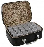 Y-F5.5 TOOL2112-025 Suitcase 13.5x19x7cm with 24 Jars BlackY-F5.5 TOOL2112-025 Suitcase 13.5x19x7cm with 24 Jars Black