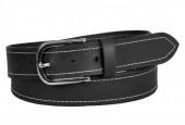 S-I7.2 BELTI-002 Grain Leather Belt Black 3.5x100cm