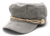 T-J2.2  HAT402-001 Sailor Cap Rib Fabric Grey