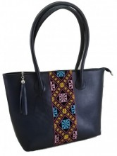 T-I1.2 BAG-899 Luxury Leather Bag 43x28x11cm Blue