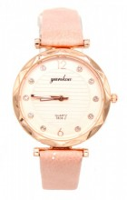 B-F7.3 W203-007 Quartz Watch with Pu Strap 30mm Pink