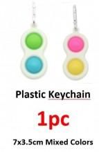 R-E2.2 T2109-004 Pop It Keychain Mixed Colors - 1pc