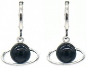 D-D2.3 E532-002S Earring Planet Black-Silver