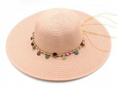 R-P6.2 HAT210-002 Hat with Wooden Beads Pink