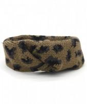 S-J7.3 H114-022 Headband with Leopard Print Brown