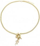 D-C22.3 N2019-024G Metal Necklace Snake Gold