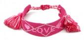 E-C6.1  B2030-007 Woven Bracelet LOVE Pink