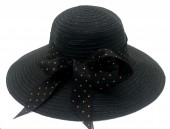 Y-E5.2 HAT210-027A Hat with Bow 39cm for Kids Black