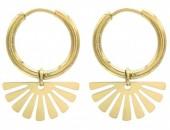 A-B18.1 E010-001G S. Steel Earrings 1.5x2cm