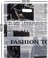X-E2.1 Plastic Bag Fashion Newspaper 40x30cm  100pcs