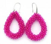 F-B6.2 E007-001 Facet Glass Beads 4.5x3.5cm Purple