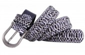 X-B10.1  FTG-072 PU with Leather Belt with Studs-Snake 3.5x100cm Purple