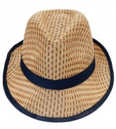 HAT210-005 Fedora Hat Brown-Blue