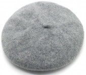 T-D2.2 HAT502-001D Trendy Woolen Baret Adjustable Size Grey