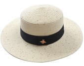Q-D6.2 HAT504-002C Hat with Glitters and Bee Beige