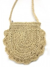 BAG003-012 Straw Crossbody Bag Beige