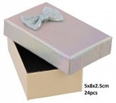 Y-D5.5  PK424-076 Giftbox for Jewelry 5x8x2.5cm Silver 24pcs