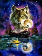 T-O6.2  GD74846 Diamond Painting Set Wolf 40x30cm
