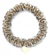D-A9.3  H2039-001D Hair Elastic with Faceted Glass Beads Grey