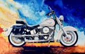 Z-C1.2 RA3080 Paint By Number Set Motorbike 40x30cm