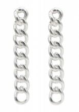 A-A2.2 SE104-590 925S Silver Earrings Chain 2x20mm