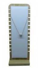 Q-L7.2 PK328-003 Jewelry Display Wood with PU 27x10x9cm