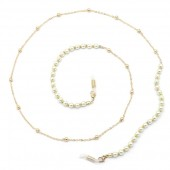 B-E11.1 GL680-1A Sunglass Chain Pearls Gold