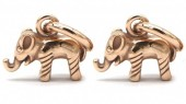 A-D16.3 E007-008RG S. Steel 10mm Earring with 17mm Elephant Rose Gold
