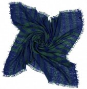 T-H8.1 Checkered Square Scarf 140x140cm Green-Blue