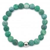 B-D17.1 B2121-001 Cracked Agate Bracelet Green