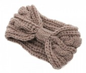 T-K6.2  H401-007E Knitted Headband Brown