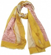 X-L7.2 SCARF510-002C Scarf Roses 180x90cm Yellow
