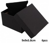 Z-E1.4 Giftbox for Watch - Bracelet with Cushion 9x9x5.8cm Black 6pcs