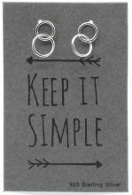 E-B4.2 E103-017 925 Sterling Silver Earrings Circles