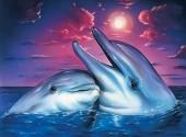 R-O3.1 X510 Diamond Painting Set Dolphins 40x30cm