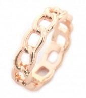 E-C17.2  R2019-001 Metal Chain Ring Mixed Sizes Rose Gold
